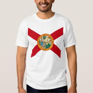 T Shirt with Flag of Florida State USA