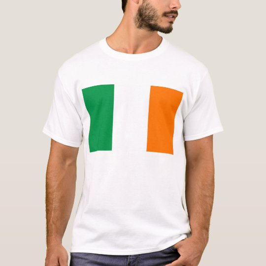 T Shirt with Flag of Ireland