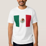 T Shirt with Flag of Mexico