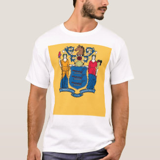 T Shirt with Flag of New Jersey State USA