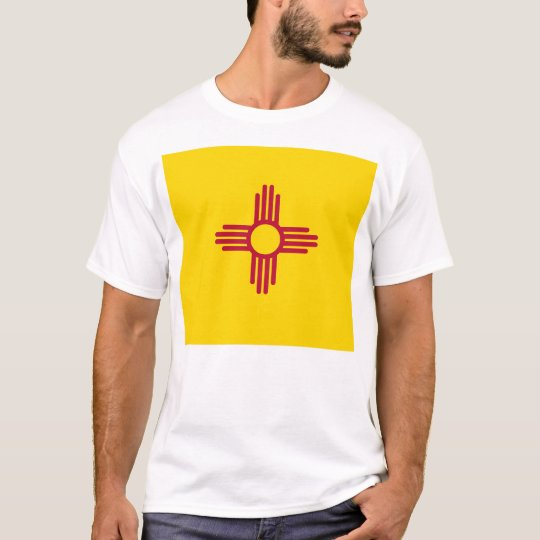 T Shirt with Flag of New Mexico State USA
