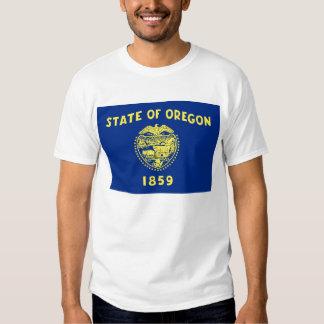 T Shirt with Flag of Oregon State USA