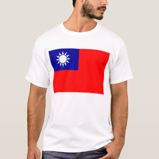 T Shirt with Flag of Taiwan