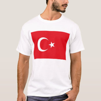 T Shirt with Flag of Turkey