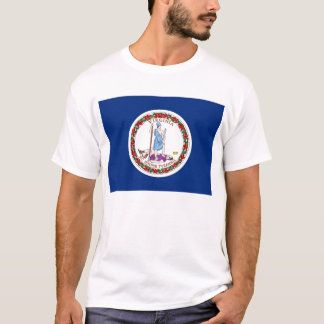 T Shirt with Flag of Virginia State USA