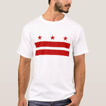 T Shirt with Flag of Washington DC - USA