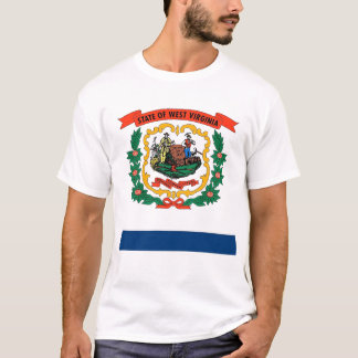 T Shirt with Flag of West Virginia State USA
