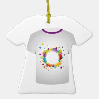 T Shirt with fractal circles Christmas Ornaments
