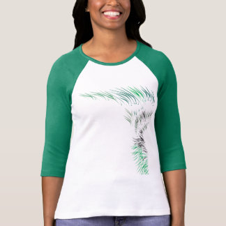 T-shirt with green flames