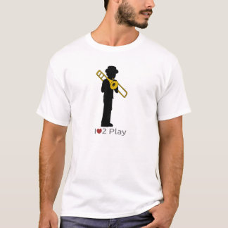 T-shirt with illustration of a trombonist