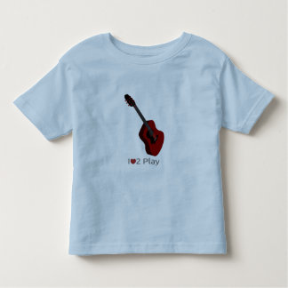 T-shirt with illustration of an electric guitar