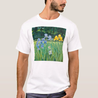 T-Shirt with Iris Painting