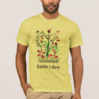 T-shirt with Japanese flower