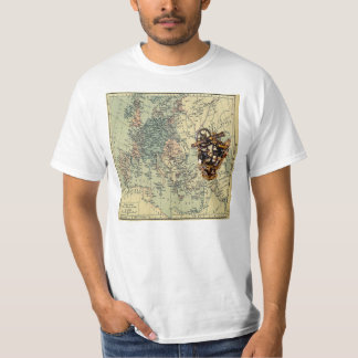 T-shirt with map of Europe from 1360