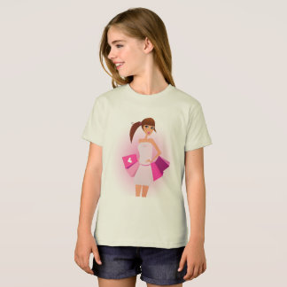 T-shirt with model girl