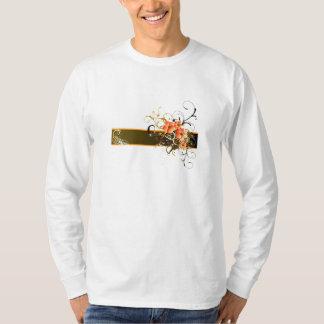 T-shirt with orange flowers