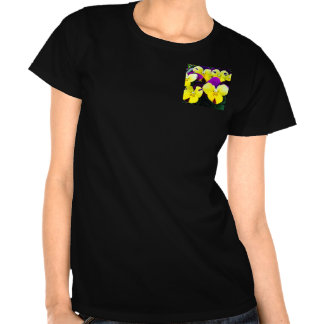 T-shirt with pansys