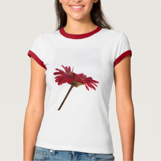 T-shirt with red flower