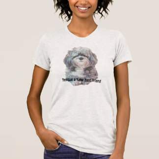 T Shirt with Rescue Dog Message and Picture