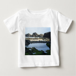 T-shirt with seascape photo, beautiful wild beach.