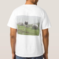 T-Shirt with Sheep Picture (Both Front and Back)