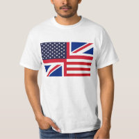 T-Shirt with Stars and Stripes and Union Jack.