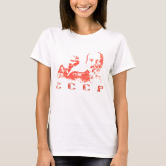 T-shirt with Vintage USSR Print of Lenin