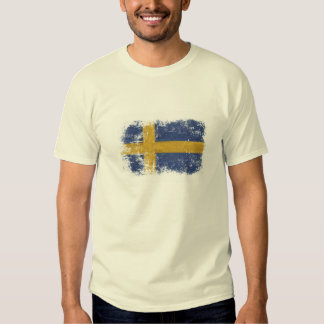 T-shirt with Worn out Swedish Flag