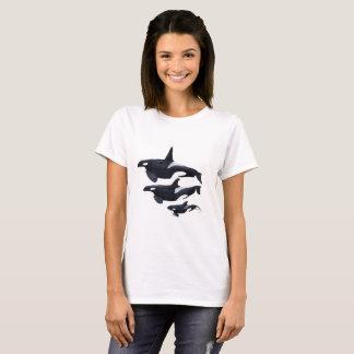 T-shirt woman, orca