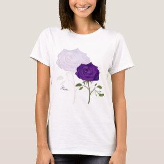 T Shirt WOmans Girls Purple ROse