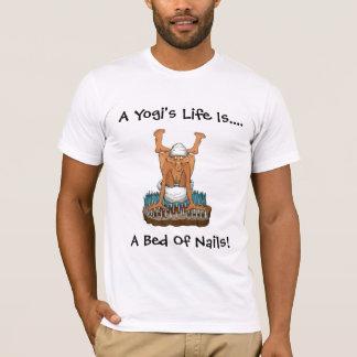 T-Shirt ~ Yoga Shirts Yogi's Life is Bed Of Nails