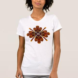 T-Shirt, Zen Flower, Brown, Pink, Yellow T-Shirt