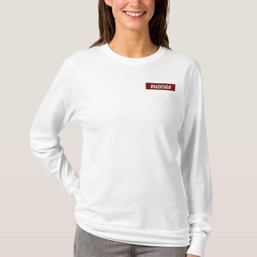 T-shirtà Manche Longue DistrictOne Femme Blanc T-Shirt - Best Selling Long-Sleeve Street Fashion Shirt Designs