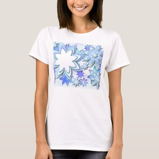 T-Shirts abstract lotus flowers
