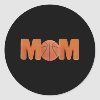 T-shirts and Gifts For Basketball Mom Classic Round Sticker