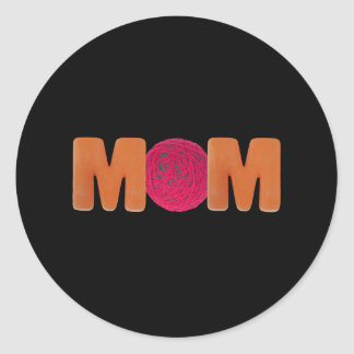 T-shirts and Gifts For Knitting Mom Classic Round Sticker
