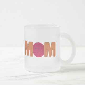 T-shirts and Gifts For Knitting Mom Frosted Glass Coffee Mug
