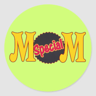 T-shirts and Gifts For Special Mom Classic Round Sticker