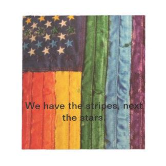 T-Shirts, Gay Pride Note Pad