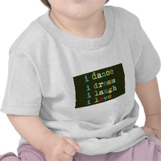 t-shirts kids babies Dance Dream Laugh Love Tshirts