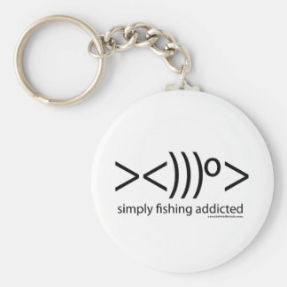 T-shirts of Fishing: Simply fishing addicted Keychain