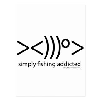 T-shirts of Fishing: Simply fishing addicted Postcard