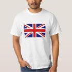 T Shirts with British Union Jack flag