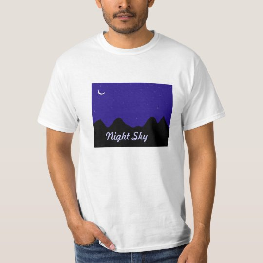 T-Shirts with Night Sky printed