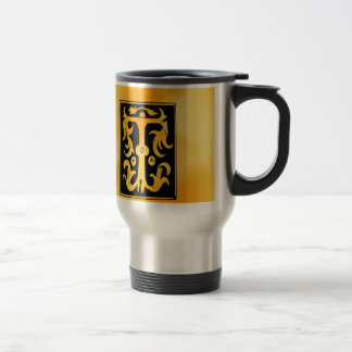 T-T Letter charactor Challenging Top success Travel Mug