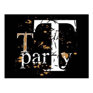 T (Tea) Party Postcard