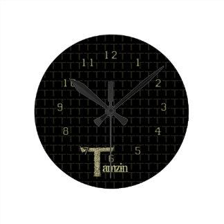 T - The Falck Alphabet (Golden) Round Clock