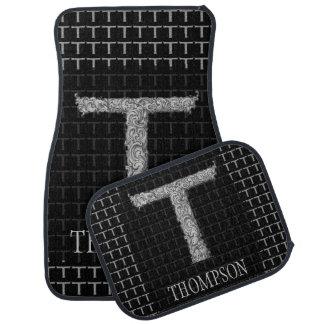 T - The Falck Alphabet (Silvery) Car Floor Mat