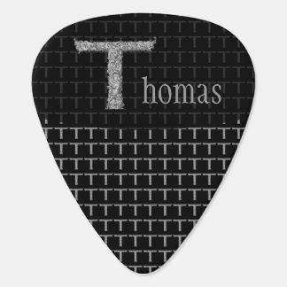 T - The Falck Alphabet (Silvery) Guitar Pick