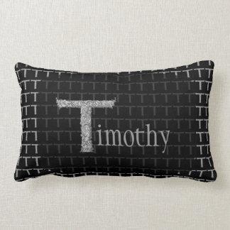 T - The Falck Alphabet (Silvery) Lumbar Pillow